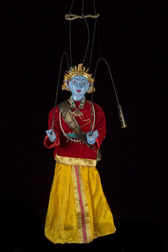 Rama marionnette Katha Bommalattam - Inde 19ème siècle  ©Maison de la Marionnette