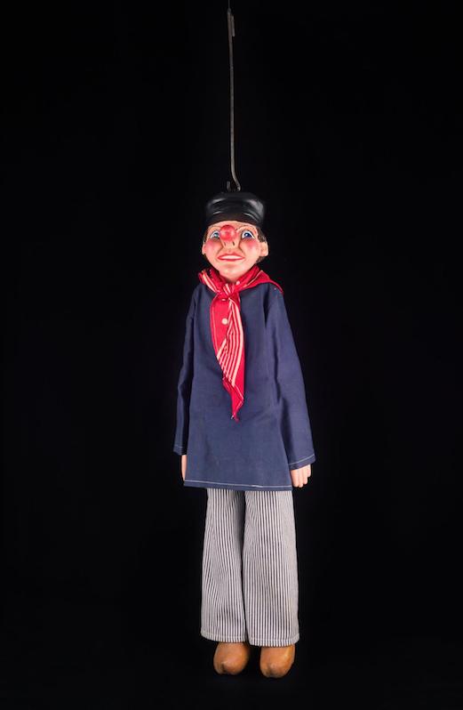 Tchantchès marionnette à tringle Liègeoise, 20ème siècle ©MaisondelaMarionnette