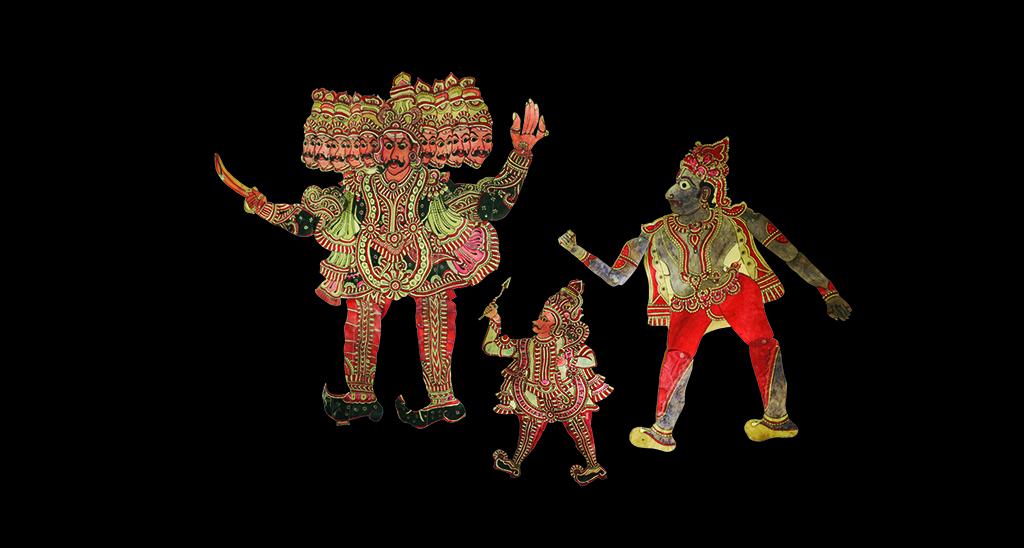 Marionnettes d'ombres indiennes - Date incconue ©MaisondelaMarionnette