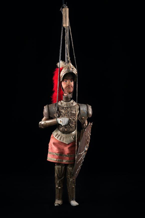 Chevalier marionnette à tringle - Italie, 19ème siècle ©MaisondelaMarionnette