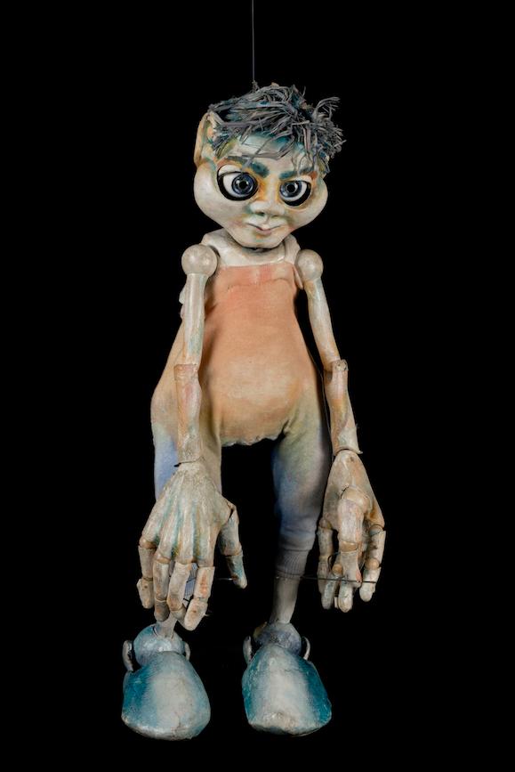 Marionnette portée spectacle Nez en l'air du Créa-Théâtre - 2003 ©MaisondelaMarionnette