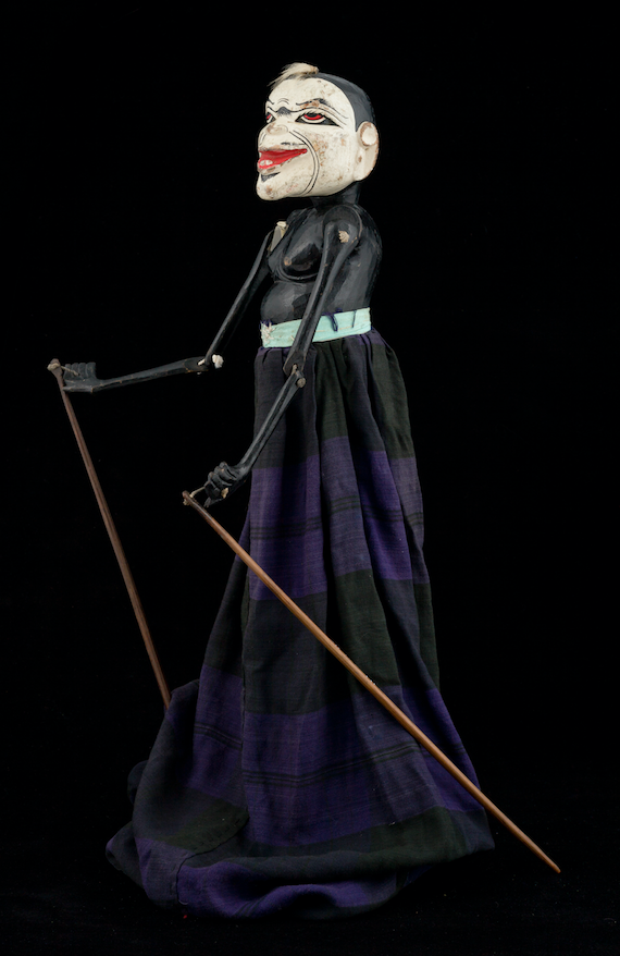 Marionnette clown wayang golek d'Indonésie 20ème siècle ©MaisondelaMarionnette
