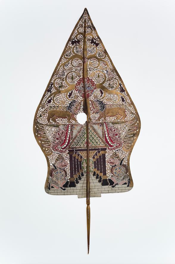 Gunungan accessoire pour ombres Indonésienne - 20ème siècle ©MaisondelaMarionnette