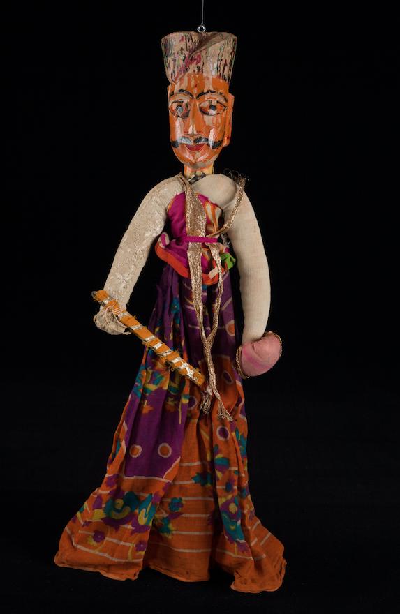 Marionnette Kathputli indienne - 19ème siècle ©MaisondelaMarionnette