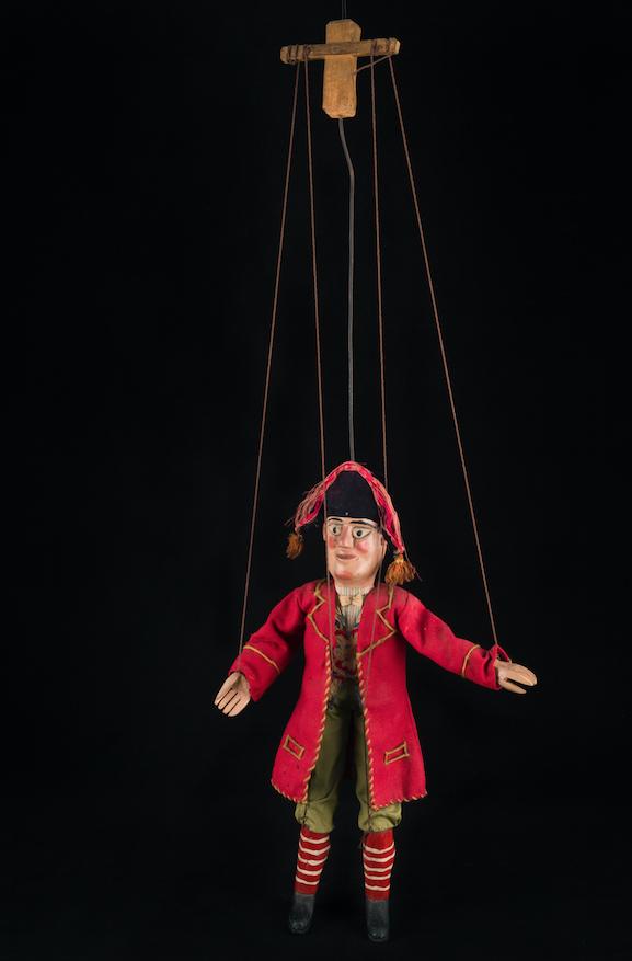Lafleur, marionnette à tringle et fils d'Amiens - Date inconnue ©MaisondelaMarionnette