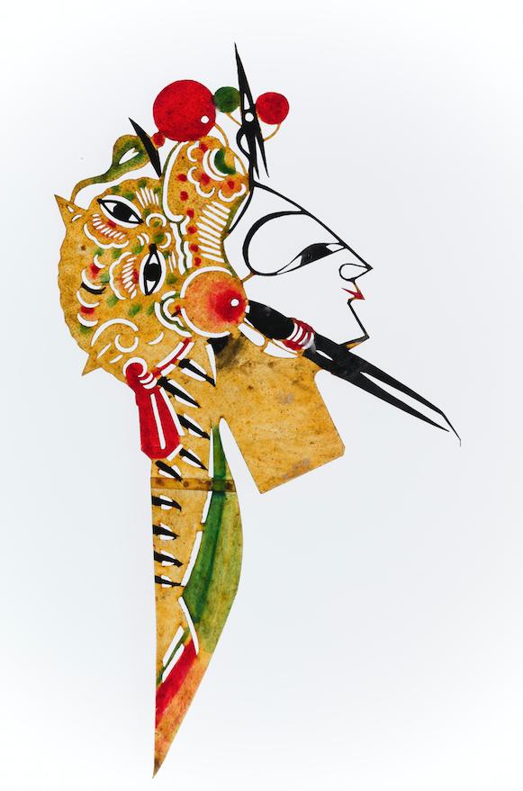 Tête de marionnette d'ombre chinoise 19-20ème siècle ©MaisondelaMarionnette
