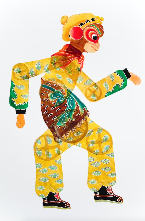 Le Roi Singe marionnette ombre chinoise 20ème siècle ©MaisondelaMarionnette