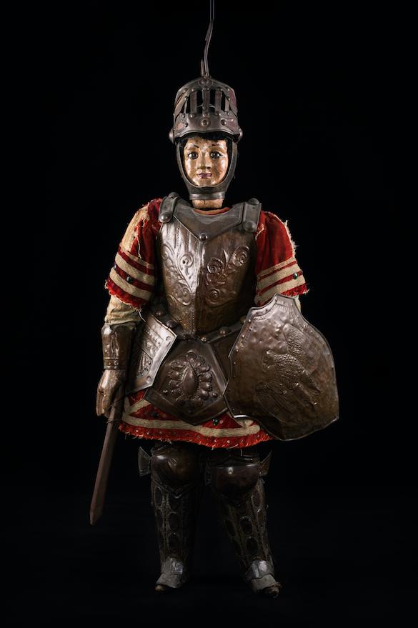 Chevalier Roland marionnette à tringle de Sicile 19ème siècle ©MaisondelaMarionnette