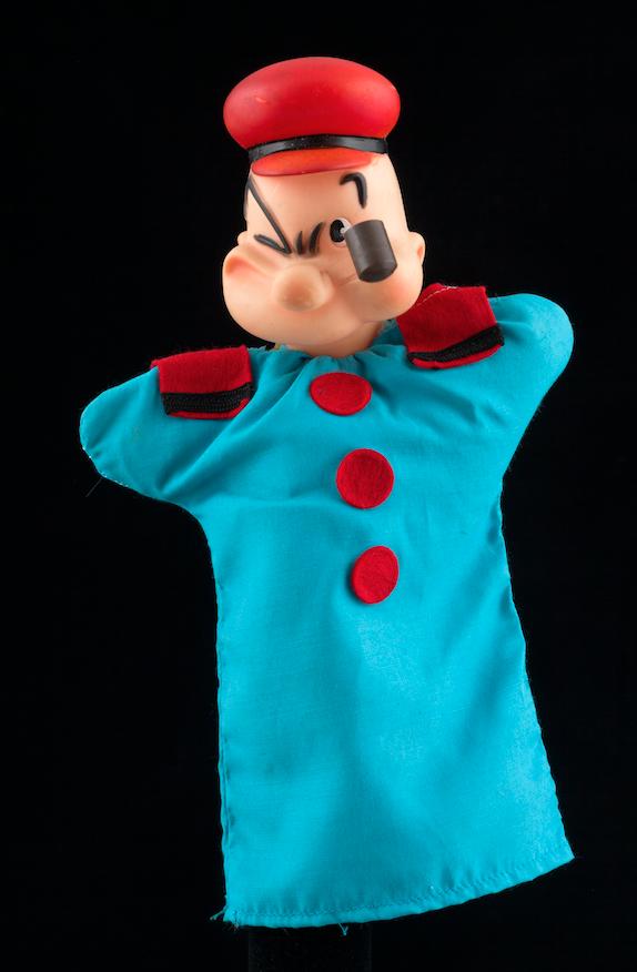 Popeye, marionnette à gaine - Hainaut, 20ème siècle ©MaisondelaMarionnette