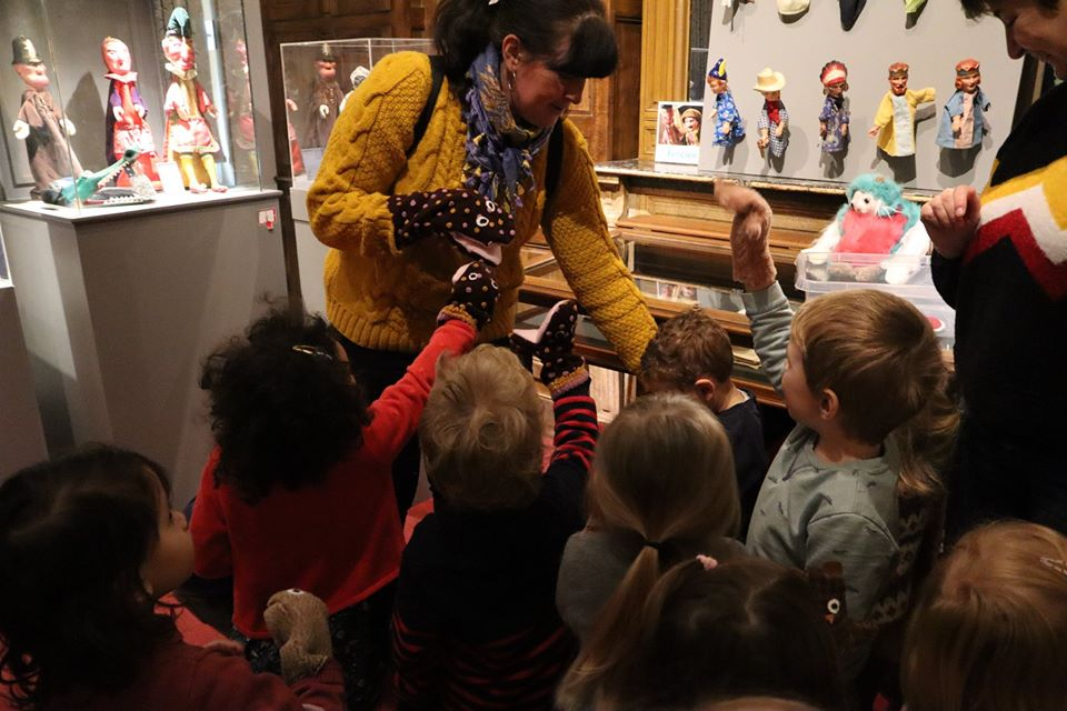 Visite marionnettes Tidou gaines